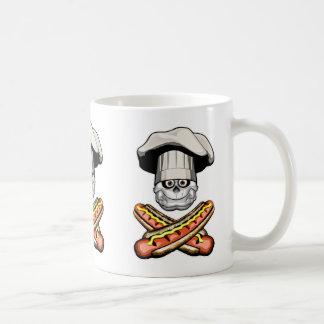 Fat Chef Skull v6 Mug