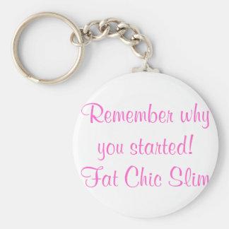 Fat Chic Slim key chain