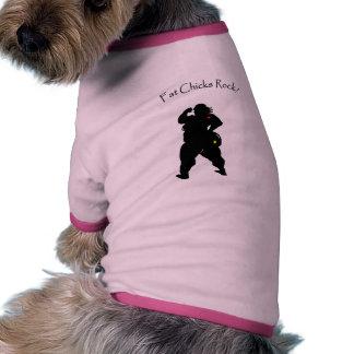 Fat Chicks Dog Shirt