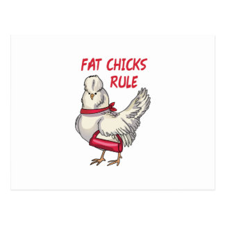 Fat Chicks Rule Postcard