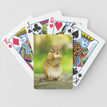 Fat Chipmunk with Treat Bicycle Playing Cards