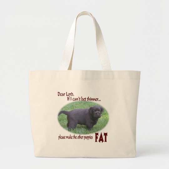 Fat Chocolate Lab Puppy Bag