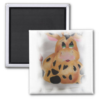 fat cow 2 inch square magnet