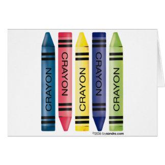 Fat Crayons Greeting Card