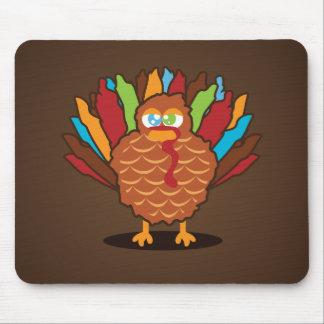 Fat Cute Turkey Mouse Pad