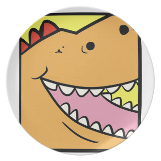 Fat Dino Melamine Plate