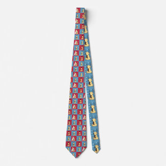 Fat Dog Christmas tie