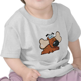 Fat Dog With Big Bone In Mouth Tee Shirts