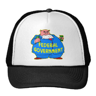 Fat Federal Government Pig Trucker Hat