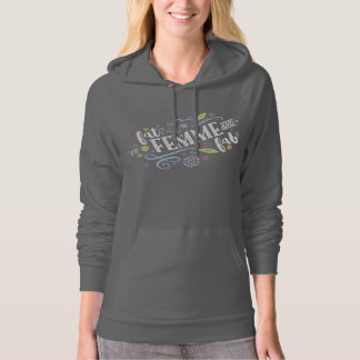 Fat, Femme, and Fab - Gray Ladies Hoodie