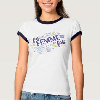 Fat, Femme, and Fab - Navy Trim T Shirt