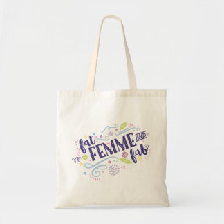Fat, Femme, and Fab Tote Bag