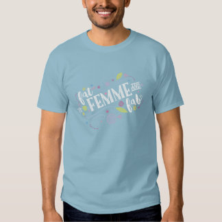 Fat, Femme, and Fab - Unisex Dusty Blue Tee