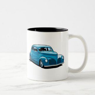 Fat Fendered Hot Rod Coupe Two-Tone Coffee Mug
