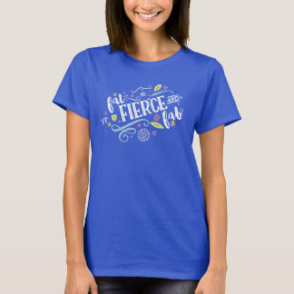 Fat Fierce and Fab Blue Fitted Tee