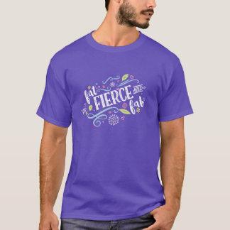 Fat Fierce and Fab Unisex Purple Tee