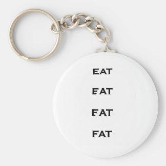 FAT FINAL BASIC ROUND BUTTON KEYCHAIN