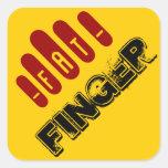 fat finger square sticker