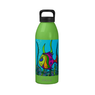 Fat Fish Colorful Water Bottles
