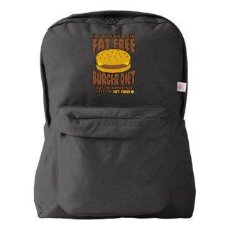 Fat Free Burger Diet American Apparel™ Backpack