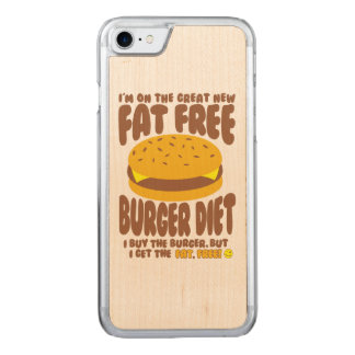 Fat Free Burger Diet Carved iPhone 7 Case
