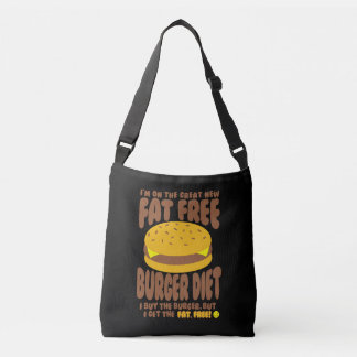 Fat Free Burger Diet Crossbody Bag