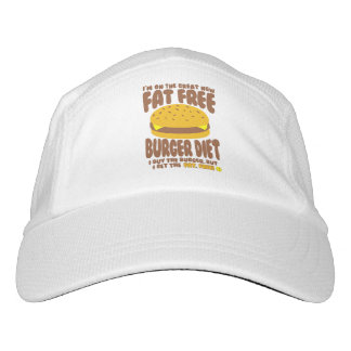 Fat Free Burger Diet Headsweats Hat