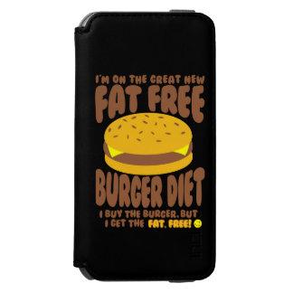 Fat Free Burger Diet iPhone 6/6s Wallet Case