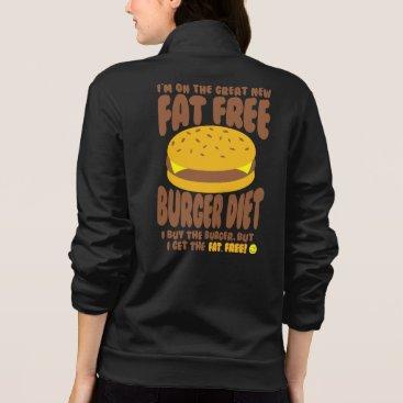 Beach Themed Fat Free Burger Diet Jacket