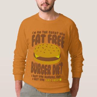 Fat Free Burger Diet Sweatshirt