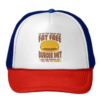 Fat Free Burger Diet Trucker Hat