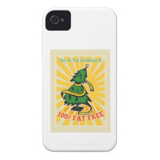 Fat Free Christmas Tree Tape Measure iPhone 4 Cases