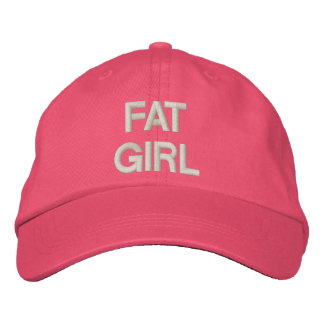 FAT GIRL EMBROIDERED BASEBALL HAT