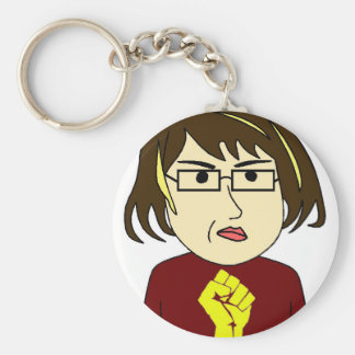 Fat Girl Fights Back Keychain