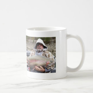 Fat Guy Loves Trout Classic White Coffee Mug