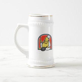 Fat Happy Buddha Chef Cook Cartoon Coffee Mug