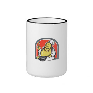 Fat Happy Buddha Chef Cook Cartoon Mug