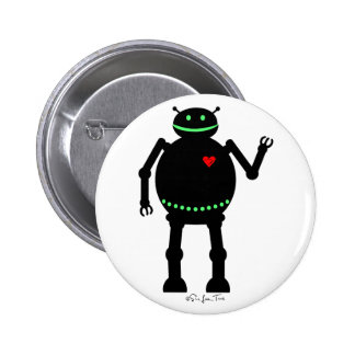 Fat Happy Robot Buttons