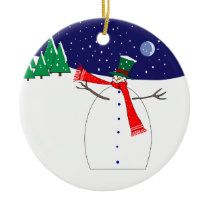 Fat & Happy Snowman Ornament