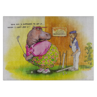 fat hippo golf cutting board