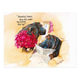 Fat hippo postcard