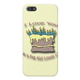 Fat Kid Loves Cake candles Cover For iPhone SE/5/5s