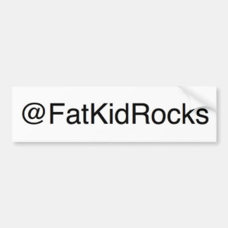 Fat Kid Rocks Twitter bumper sticker Car Bumper Sticker