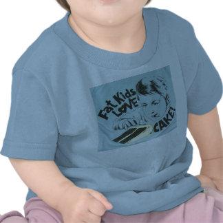 Fat Kids Love Cake Tee Shirts