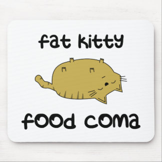 Fat Kitty Food Coma Mouse Pad