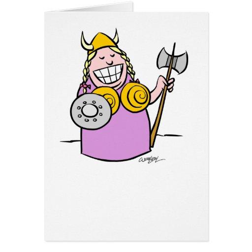 Fat Lady Sings Greeting Card