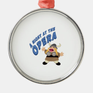Fat Lady Sings Round Metal Christmas Ornament