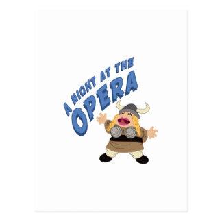 Fat Lady Sings Postcard