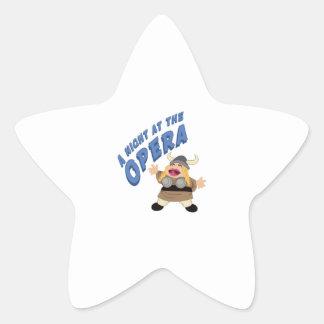 Fat Lady Sings Star Sticker