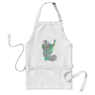 Fat Lady With A Fan Adult Apron